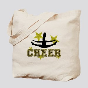 Cheerleader Gold and Black Tote Bag