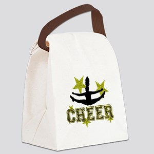 Cheerleader Gold and Black Canvas Lunch Bag