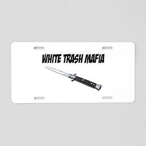 White Trash Mafia Switchblade Aluminum License Pla