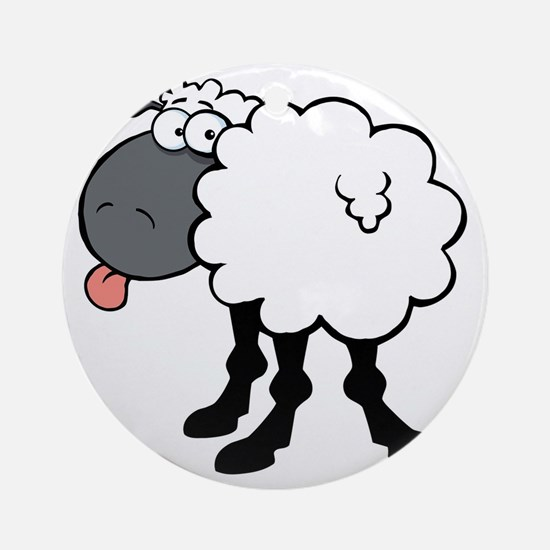 Sheepish  Round Ornament