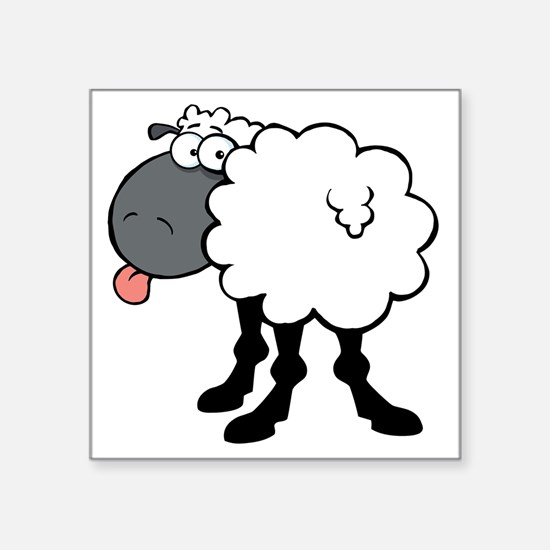 "Sheepish  Square Sticker 3"" x 3"""