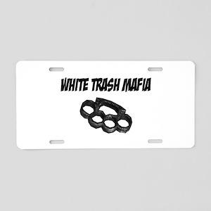 White Trash Mafia Brass Knuckles Aluminum License