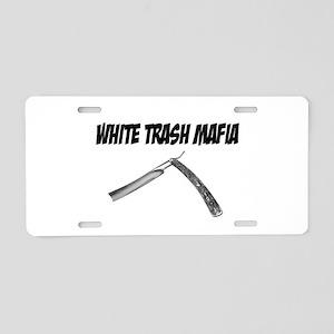 White Trash Mafia Straight Razor Aluminum License