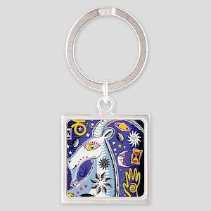 Aries Square Keychain