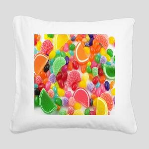 Candy Craze Square Canvas Pillow