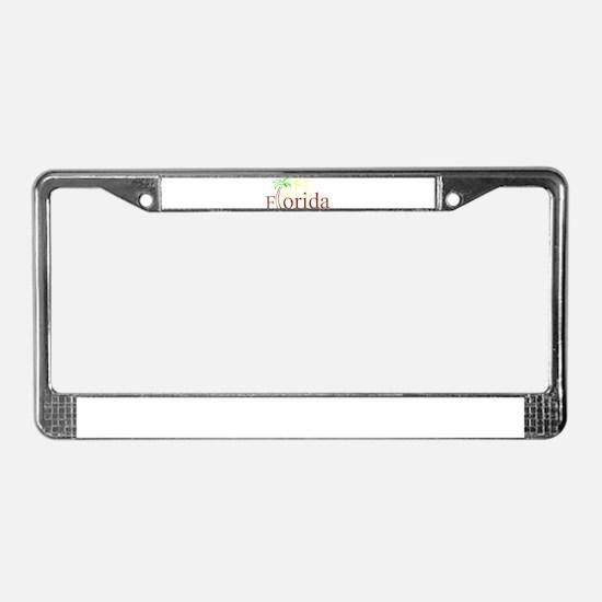 Florida Palm License Plate Frame