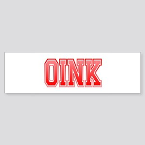 Oink Bumper Sticker