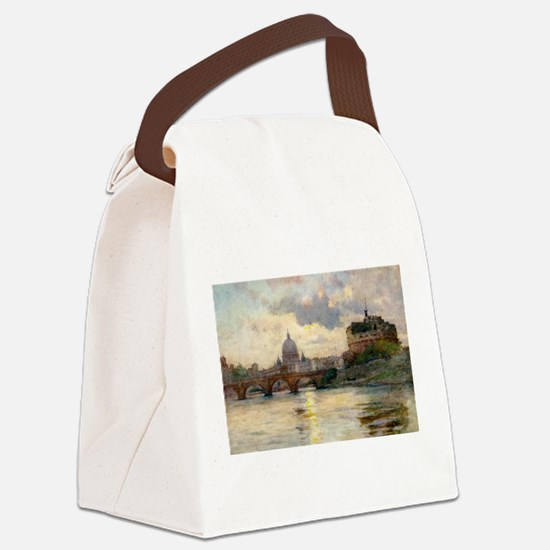 St Peter's Rome From The Tiber Canvas Lunch Bag