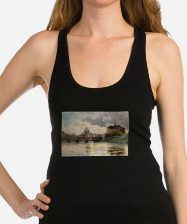 St Peter's Rome From The Tiber Racerback Tank Top