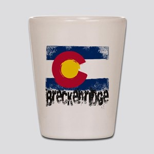 Breckenridge Grunge Flag Shot Glass