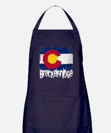 Breckenridge Grunge Flag Apron (dark)