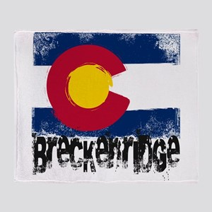 Breckenridge Grunge Flag Throw Blanket