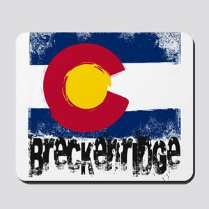 Breckenridge Grunge Flag Mousepad