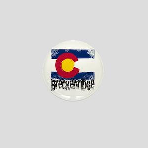 Breckenridge Grunge Flag Mini Button