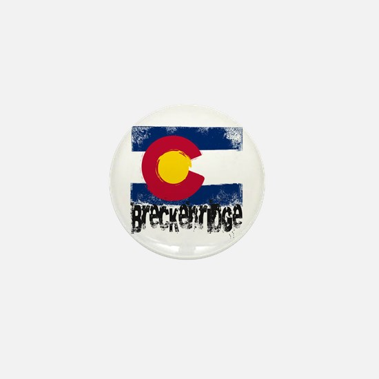 Breckenridge Grunge Flag Mini Button