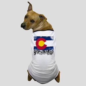 Breckenridge Grunge Flag Dog T-Shirt