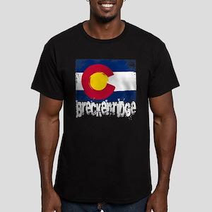 Breckenridge Grunge Flag Men's Fitted T-Shirt (dar