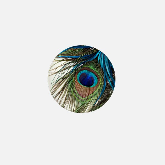 Peacock Feathers Mini Button