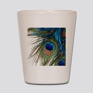 Peacock Feathers Shot Glass