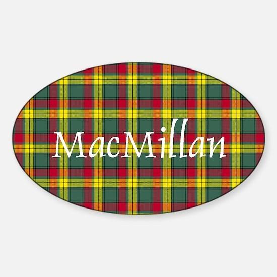 Tartan - MacMillan Sticker (Oval)
