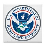 Department Of Homeland Stupidity Tile Coaster