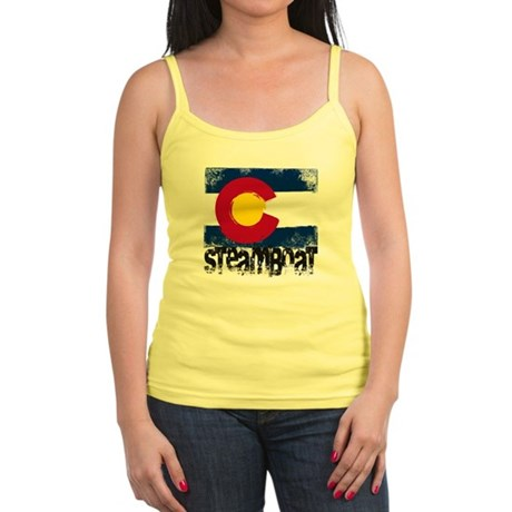 Steamboat Grunge Flag Jr. Spaghetti Tank