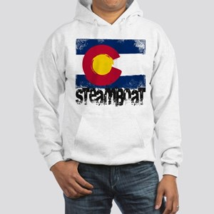 Steamboat Grunge Flag Hooded Sweatshirt