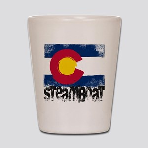 Steamboat Grunge Flag Shot Glass