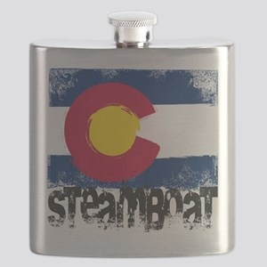 Steamboat Grunge Flag Flask