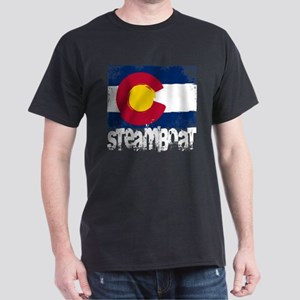 Steamboat Grunge Flag Dark T-Shirt