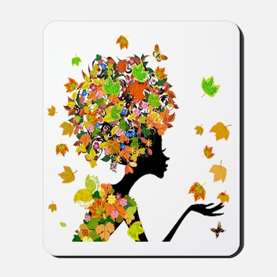Flower Power Lady Mousepad