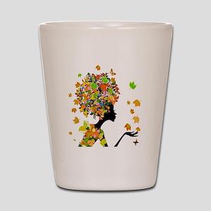 Flower Power Lady Shot Glass