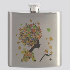 Flower Power Lady Flask