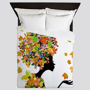Flower Power Lady Queen Duvet