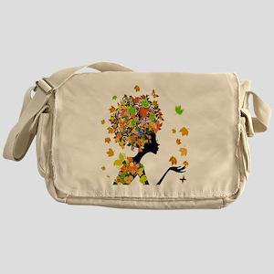 Flower Power Lady Messenger Bag