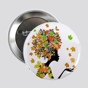 """Flower Power Lady 2.25"""" Button"""