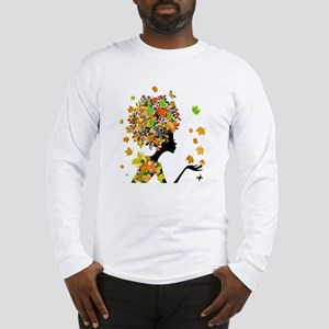 Flower Power Lady Long Sleeve T-Shirt