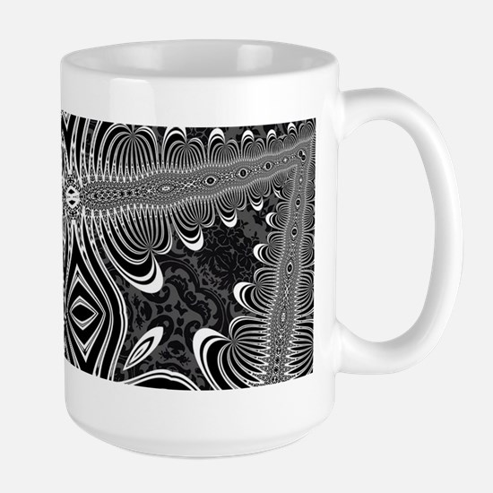Black White Silver Geometry Mugs