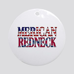 Merican Redneck USA Confederate Flag Ornament (Rou