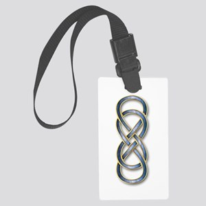 Double Infinity Blue/Gold - Large Luggage Tag