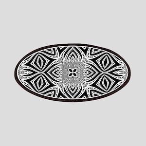 Black White Silver Geometry Patch