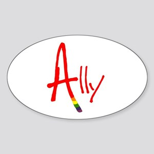 Ally Oval Sticker