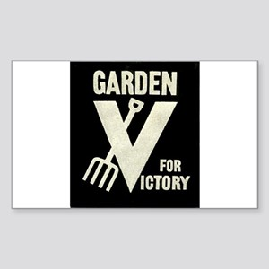 Victory Garden Rectangle Sticker