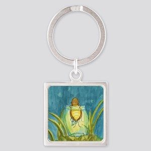 Light In A Jar Square Keychain
