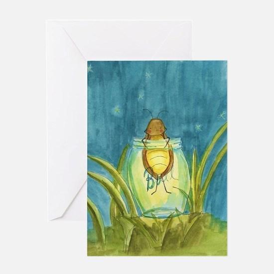 Light In A Jar Greeting Card