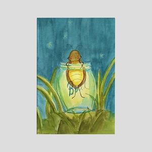 Light In A Jar Rectangle Magnet
