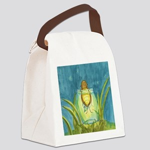 Light In A Jar Canvas Lunch Bag