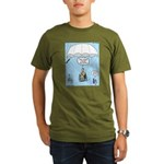 Wheelchair Parachute Organic Men's T-Shirt (dark)