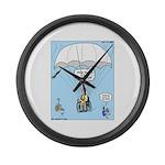 Wheelchair Parachute Large Wall Clock