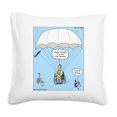 Wheelchair Parachute Square Canvas Pillow